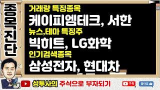 테마주진단1] 10/17 인기검색종목 : 현대차, 삼성…