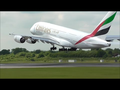 Manchester Airport Close Up Afternoon Take Off's | 23/06/15