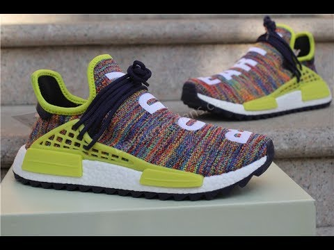 556ca8826 Pharrell Williams Human Race NMD Rainbow Trail Body Earth - YouTube