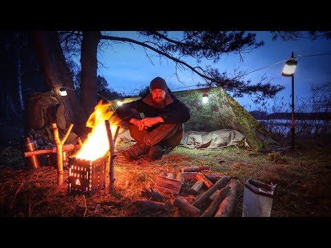 24H Biwak am See mit neuer Ausrüstung - Biwaksack Tarp Messer Stockbrot - Overnighter Übernachtung