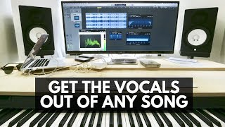 Video How to completely remove vocals from a ANY song (this actually works!)HD download MP3, 3GP, MP4, WEBM, AVI, FLV Februari 2018