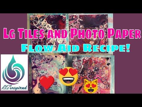 Big Tile Fluid Art & Photo Paper Pour Yupo Alternative