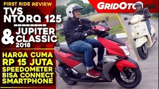 TVS Ntroq 125 dan TVS Jupiter Classic l First Ride Review I GridOto