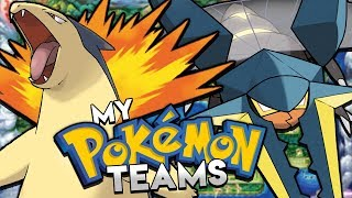 My Pokemon Team For Every Region
