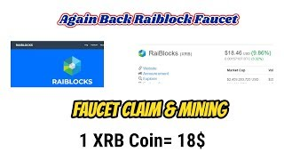 Raiblock Again Faucet Claim & Free Mining Gold Earn   Monthly Earn 100$-200$ Free Site