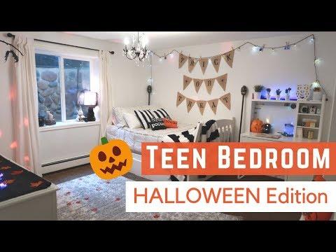TEEN BEDROOM MAKEOVER 🎃 Halloween decor DiY ideas!