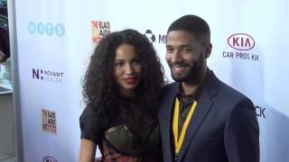 Jurnee Smollett Bell and Jussie Smollett arriving to the Black AIDS Institute 2015 Heroes In The Str