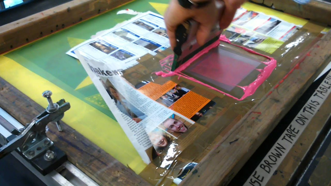 the process of silkscreening Silk screening is a process which is used to create prints on a wide variety of materials, from fabric to wood many commercial printers use silk screening to print, since it is cheap and easy, and when done well, it results in high quality prints.
