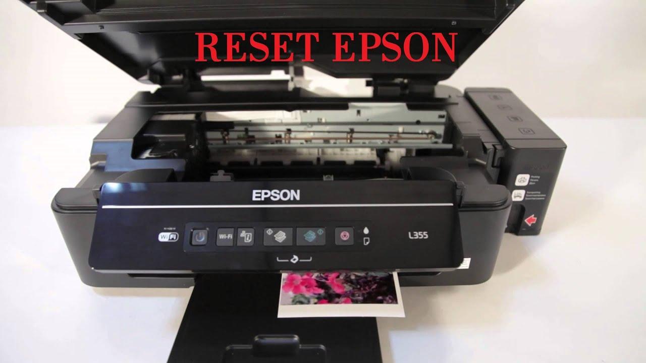 Epson L355 resetar nível de tinta sem programa (reset