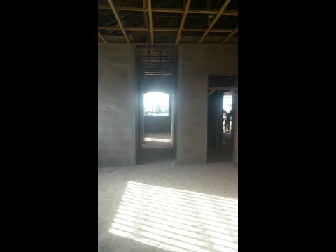 Building in Ghana Part 9 || Plastering 1|| 2nd Level Interior ||