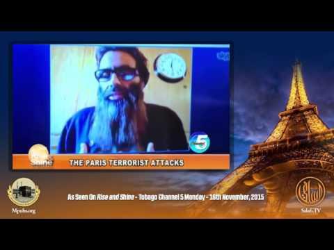 Islam Denounces the Terrorist Attacks in Paris-TV Interview by Abu Khadeejah Abdul Wahid.