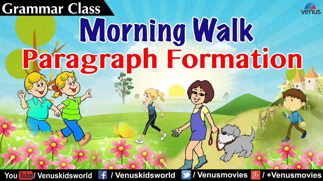 essay on morning walk for 8th class