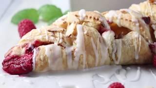 Vegan Raspberry &amp Cream Cheese Danish