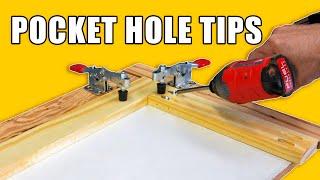 Pocket Hole Tips / Pocket Hole Jig Tricks