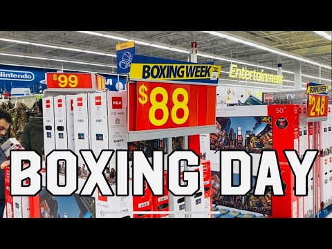 BOXING DAY IN CANADA / DISCOUNT SALES / LIFE IN CANADA