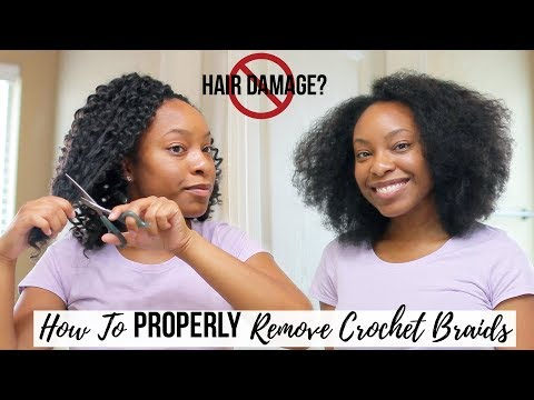 HOW TO | Properly Remove Crochet Braids FAST & EASY (Absolutely NO Hair Damage)!!