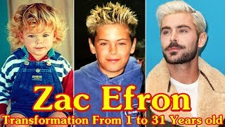 Zac Efron transformation From 1 to 31 Years old