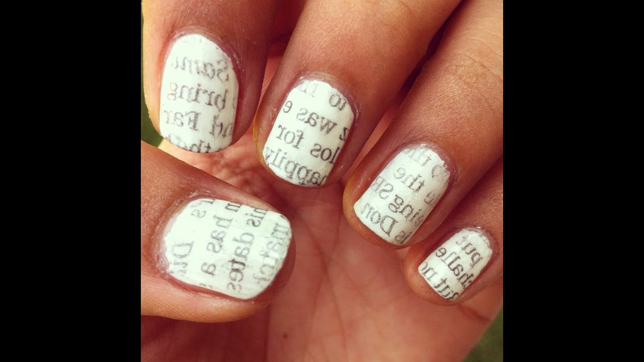 Newspaper Nails With Water - YouTube