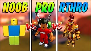 ROBLOX JAILBREAK NOOB vs PRO vs RTHRO! (Anthro)