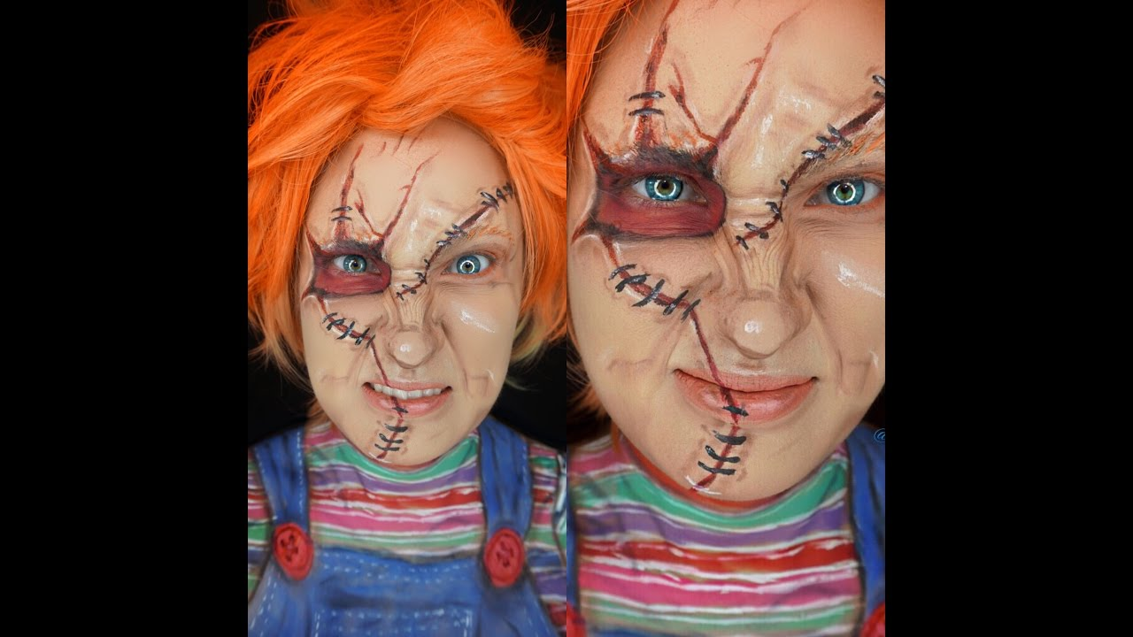 Child\'s Play Chucky Doll Inspired Makeup Halloween Tutorial - YouTube