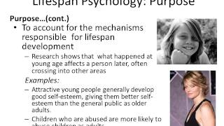 Chapter 1 Lifespan Psychology Lecture