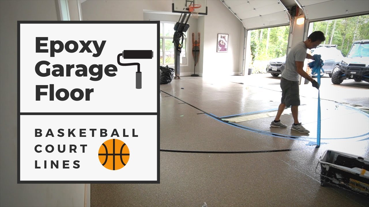Building A Basketball Court In A Garage With An Epoxy Floor Youtube
