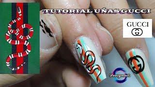 COMO HACER UÑAS GUCCI - tutorial decoracion de uñas gucci Deasynails