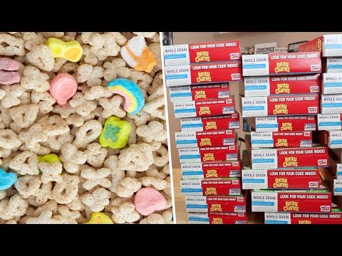 Lucky Charms Marshmallows Challenge- 31 Boxes of Cereal