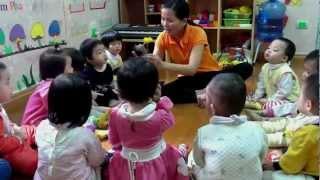 Phim | Tiết học nhận biết tập nói hoa hồng, hoa cúc Lớp Nhà trẻ1 | Tiet hoc nhan biet tap noi hoa hong, hoa cuc Lop Nha tre1