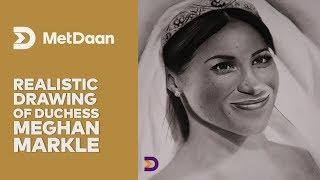 Realistic drawing of Duchess Meghan Markle | MET DAAN