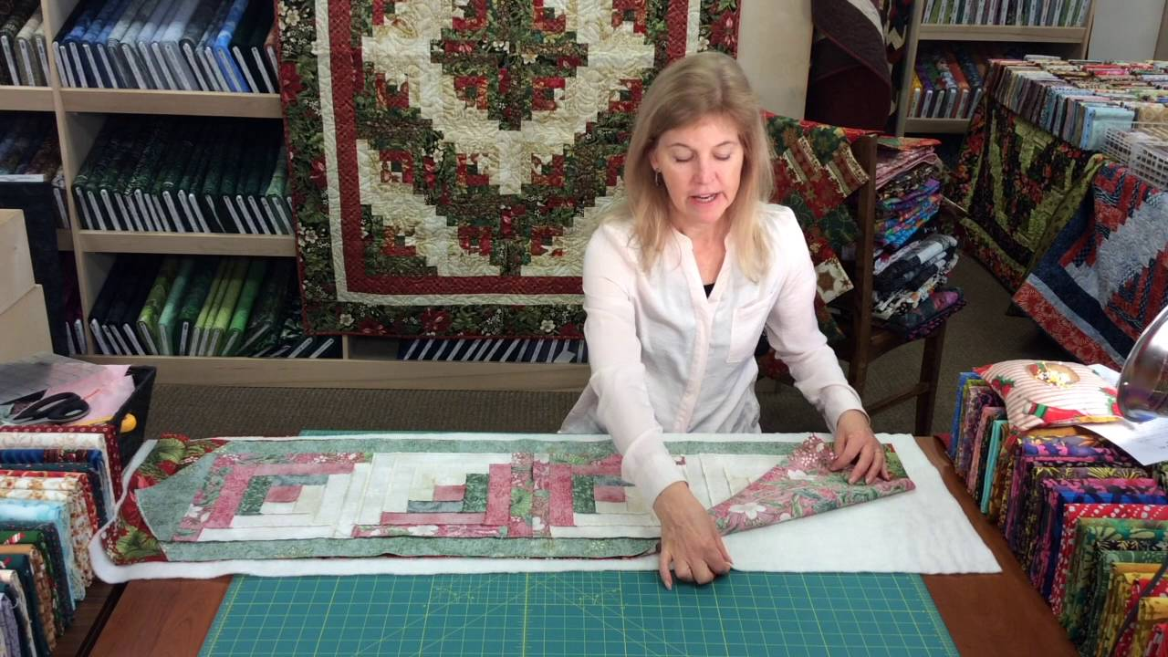 Jordan Fabrics How To Sew A Log Cabin Table Runner Kit Tutorial By