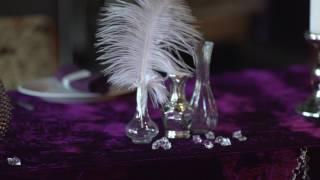 Декор и оформление свадьбы в фиолетовых тонах