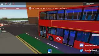 Roblox North London Bus Simulator Old Wright Pulsar Gemini DAF DB300 Route 121 from Palmers Green