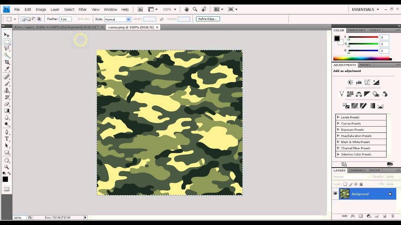 Tutorial layers adding camo texture on photoshop youtube tutorial layers adding camo texture on photoshop baditri Image collections