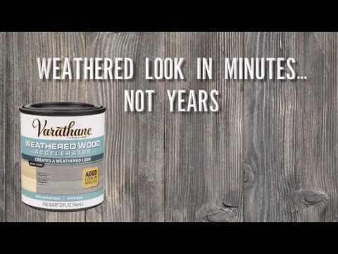 Get A Weathered Wood Look In Minutes With Varathane