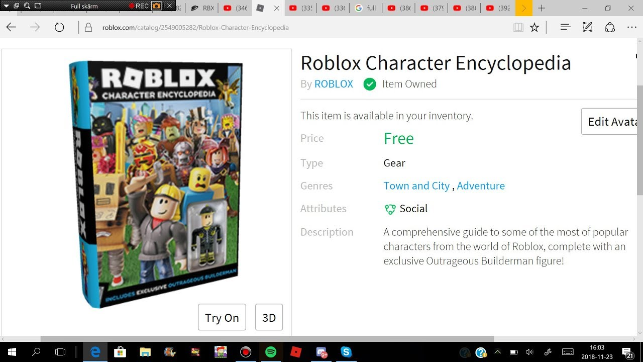 Item How To Get Roblox Character Encyclopedia Youtube