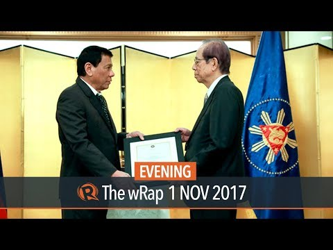 Duterte confers Order of Sikatuna on late Japan PM Fukuda