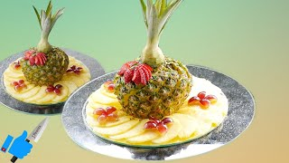 FRUIT CENTER  FOR EASTER | Sliced Pineapple  | Fruit carving