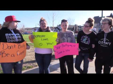 Anti-Bullying Protest in Gaylord, MI