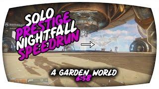 Solo Speedrun Prestige Nightfall - A Garden World 6.58 (Warlock)