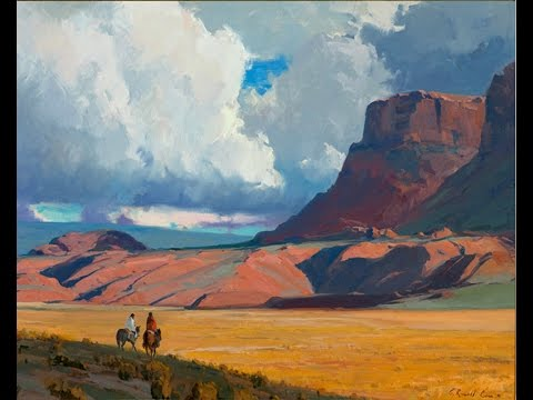 Navajo country old western art and Native American flute slideshow