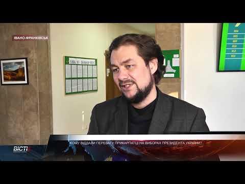 Який попередній результат виборів Президента України по округах Прикарпаття?