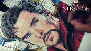 Desenhando Doutor Estranho | Drawing Doctor Strange (Benedict Cumberbatch)#Speedart