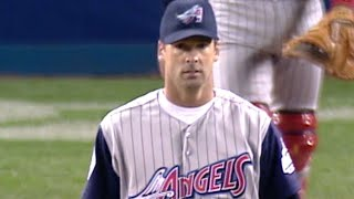 Chuck Finley records four strikeouts in one inning