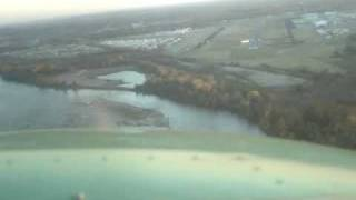 Greased Landing in a Cessna 172 - KRVS at Sunset