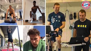 How FC Bayern's stars take part in cyber training