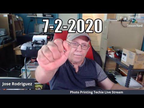Jose Rodriguez Photo Printing Techie Sunday Live Stream 4pm Eastern Time USA 8-02-2020