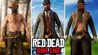 The Hillbilly, The Pinkerton, And The Girzzly Outlaw Outfits In Red Dead Online Outfits