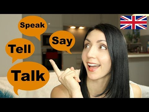 Speak, Talk, Say & Tell - What's the Difference | Live English Lesson Writing Practice