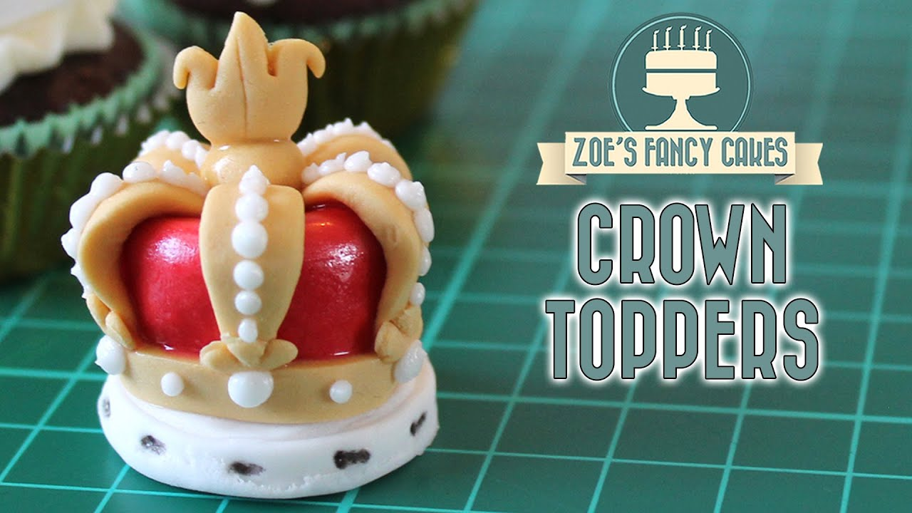 Crown cake toppers for the Queens 90th birthday celebration YouTube